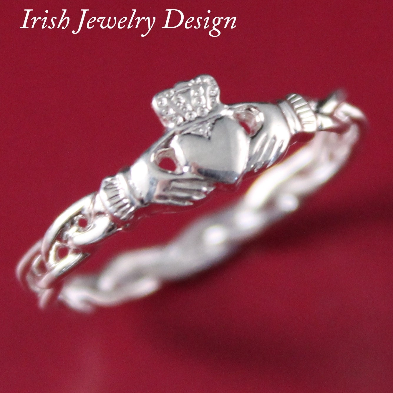 claddagh ring ladies claddagh ring sterling silver 10k 14k. Black Bedroom Furniture Sets. Home Design Ideas