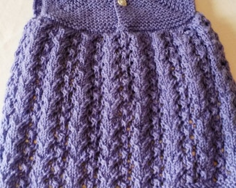 Hand Knit Baby Frock