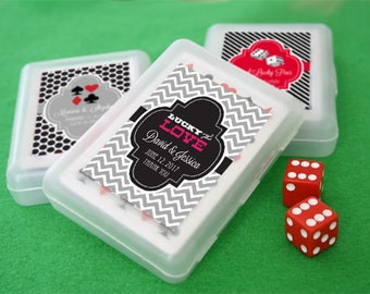 Vegas Wedding Favors - Las Vegas Wedding Favors - Las Vegas Theme Party Favors Playing Cards (EB2033Z) - set of 12| decks