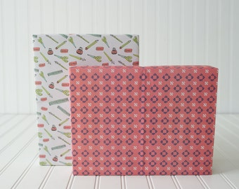 Southwest Vibes Reversible Eco Gift Wrap by Little Minnow and Little Low // Double-sided wrapping paper  (2 Sheets)