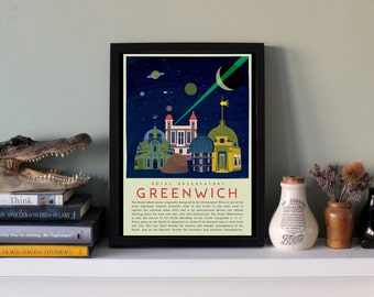 The Royal Observatory Greenwich - Meridian Line Art Print