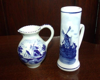 Vintage Miniature Delft Vases