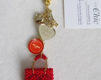 LUXURY Inspired Bag/Key Charm to be customised with mini bag