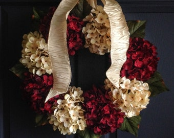 Christmas Wreaths | Holiday Door Wreath | Outdoor Wreaths | Front Door Wreaths | Hydrangea Wreaths | Seasonal Wreath | Door Decor