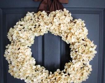 Wedding Wreath   Hydrangea Wreath   Wedding Flower Wreaths   Wreaths for Wedding   Bridal Shower Decor