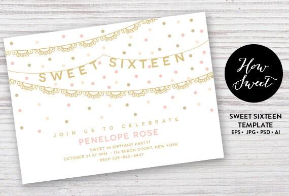 sweet sixteen party einladung diy teen party l dt