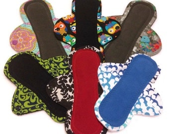 Custom Cloth Pads, Stay-Dry Pads, Reusable Menstrual Pads - Pantyliner, Light, Moderate, Heavy, Overnight - You choose fabric! mama cloth