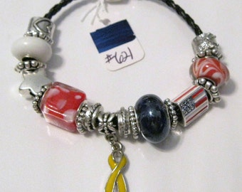 621 - CLEARANCE - Yellow Awareness Bracelet