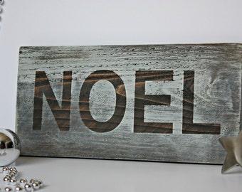 Noel Christmas Sign, Rustic Christmas Sign, Noel Wood Sign, Wood Sign, Christmas Decor
