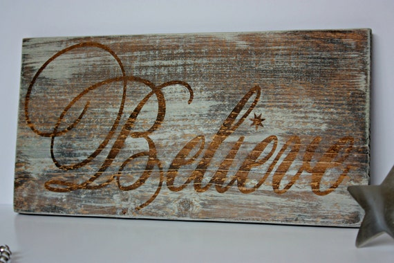 Believe Christmas Sign Rustic Christmas Sign Believe Wood