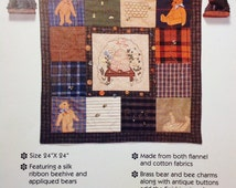 Gooseberry Hill Bears n Bees Quilt Wall Hanging