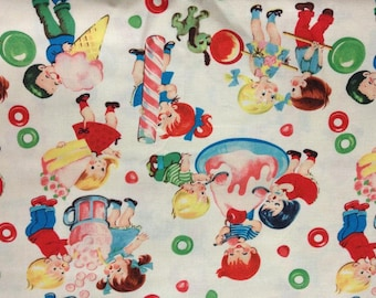 Half Yard of Retro Kids Candy Shop fabric by Michael Miller.