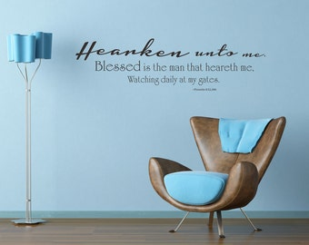 Proverbs 8:32-34 | Scripture Wall Decal