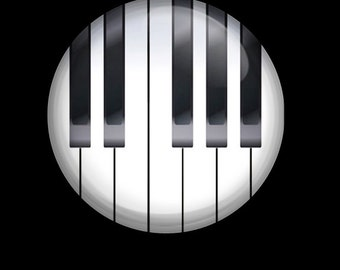 Piano Keys Piano Notes Pin Back Button Badge 1 inch Button or Magnet