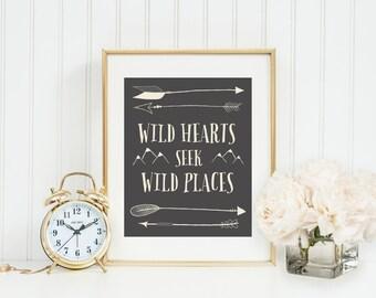Wild Hearts Seek Wild Places Print