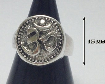 """925 Sterling Silver A ring """"Om Hindu"""" Rich and Luck Good Business.(No.36)"""