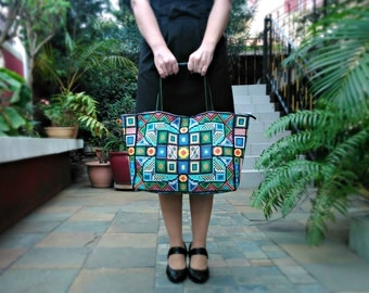 MADE TO ORDER: Morning&Evening delight Handbag embroidered by hand, Unique, Tote bag, Laptop bag, Travel suitcase, Gift idea