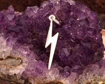 Lightening Bolt Charm, Lightening Charm, Weather Charm, Sterling Silver Charm, Witches and Wizards Charm, PS01182