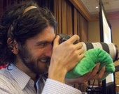 Camera bean bag: Large tripod beanie bag stuffed w/ Colorado pinto beans; photographer beannie to prop camera, ipad, iphone ...