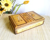 Vintage wooden box / Wooden Cigarette box / Cigarette box from '60