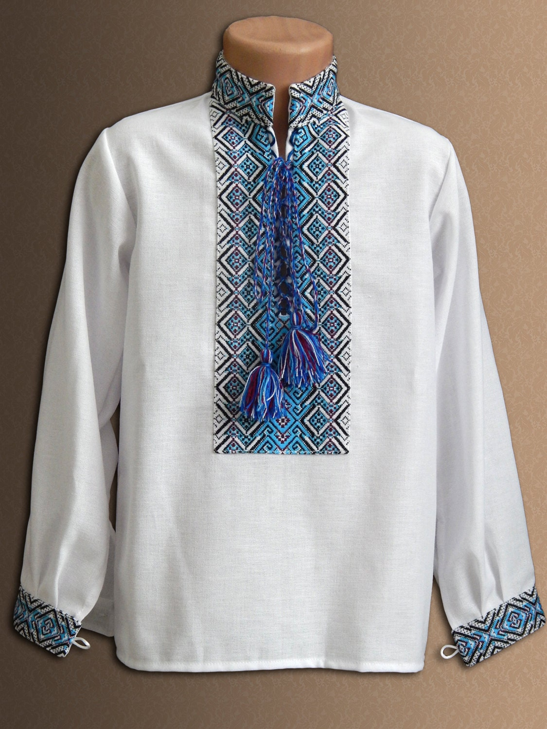 Ukrainian embroidered shirt for boys different sizes