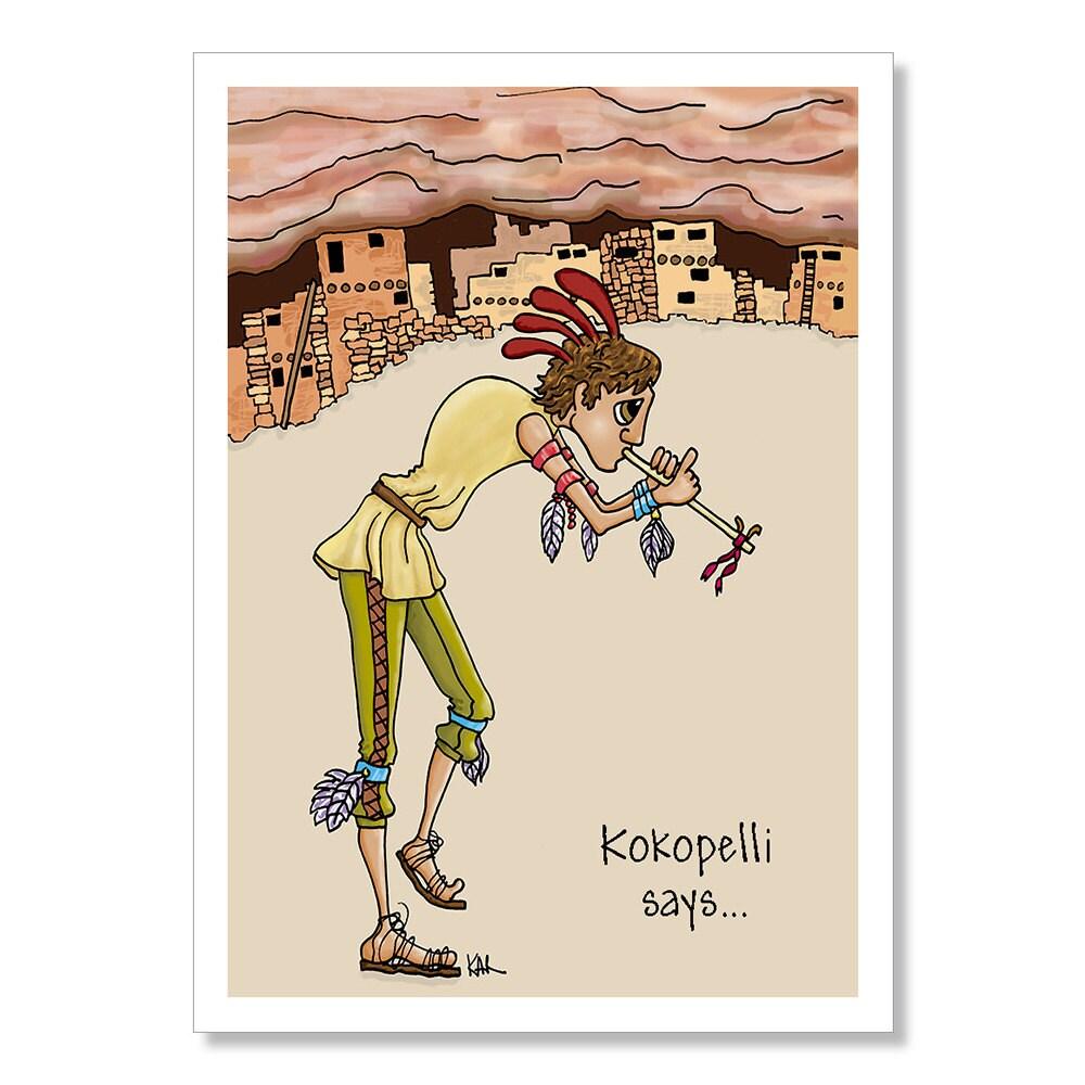 Kokopelli Birthday Card Funny Birthday Card Native American – Native Birthday Cards