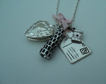 Italy Themed Charmed Necklace