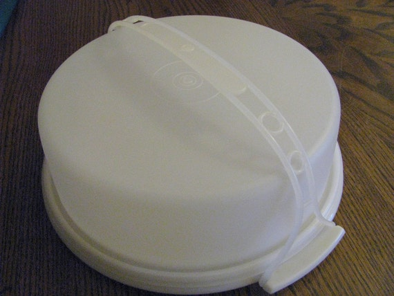 Tupperware Pie Taker Carrier With Lid Amp Handle Vintage Retro