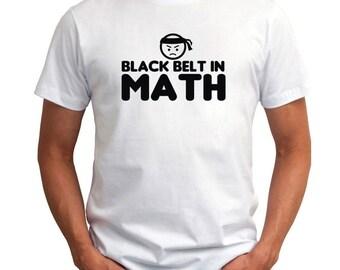 Black Belt In Math T-Shirt