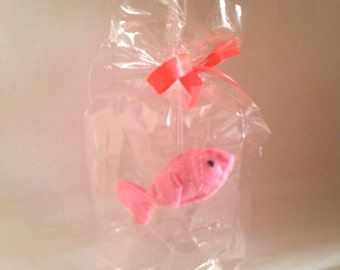 Pink goldfish - The Ultimate Pet, Fish in a bag, vegan.