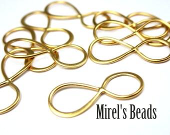 19mm 22k Gold over 925 Sterling Silver Infinity Link, Infinity Connector, Bracelet Link