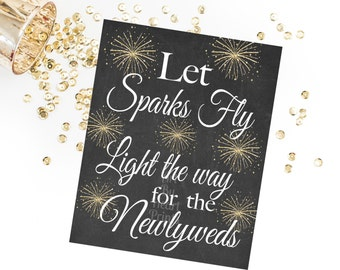 Sparklers Sign / Wedding Sparklers Sign / Wedding Sparkler Sendoff Sign / Wedding Sparklers Printable INSTANT DOWNLOAD