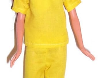 Yellow Scrub Set for Fashion Dolls