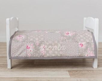 Patchwork floral bedspread