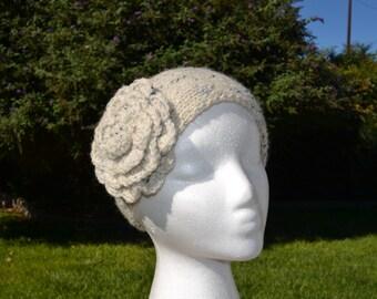 Ear Warmers, Headband, Knitted Ear Warmer, Winter Headband, Cream Knitted Headband Ear Warmer.
