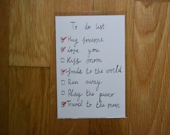 To do list,Greeting card