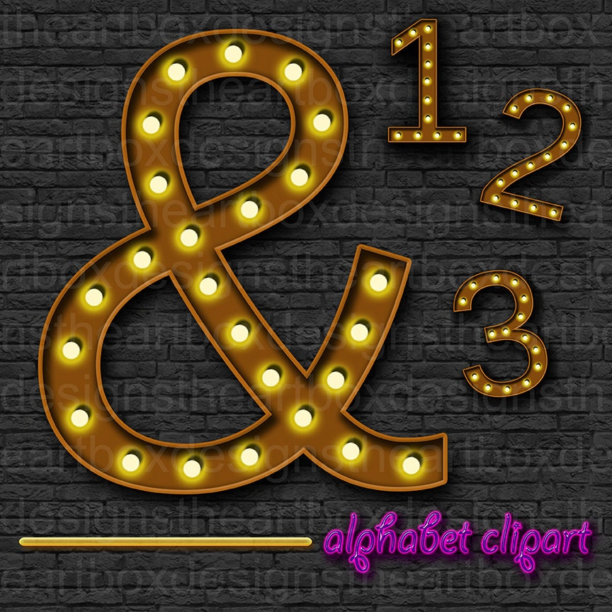marquee lights alphabet clipart theater lights alphabet printable broadway letters numbers punctuation hollywood lights alphabet