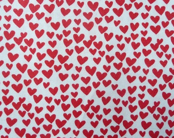 Red Heart Quilt Fabric, Timeless Treasures FUN C3355, Red Valentines Day Fabric, Lipstick Red Cotton Fabric, Cotton Heart Fabric