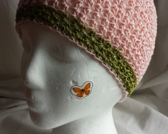 Pink Polished Cotton Skull Cap