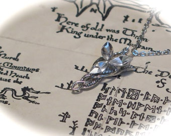 Ready to Ship! 18 Inch Doll Arwen Evenstar Elvish Necklace - Lord of the Rings Doll Pendant & Chain
