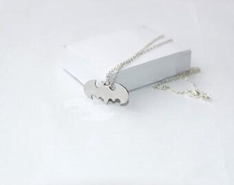 Batman necklace! Sterling silver chain