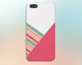 Pink x White x Evergreen Stripes Case for iPhone 6 6 Plus iPhone 5 5s 5c 4 4s Samsung Galaxy s6 s5 s4 & s3 and Note 5 4 3 2