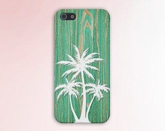 Green Wood White Palm Trees Cali Phone Case, iPhone X, iPhone 7 Plus, Tough iPhone Case, Galaxy s8, Samsung Galaxy Case, Note 8, CASE ESCAPE