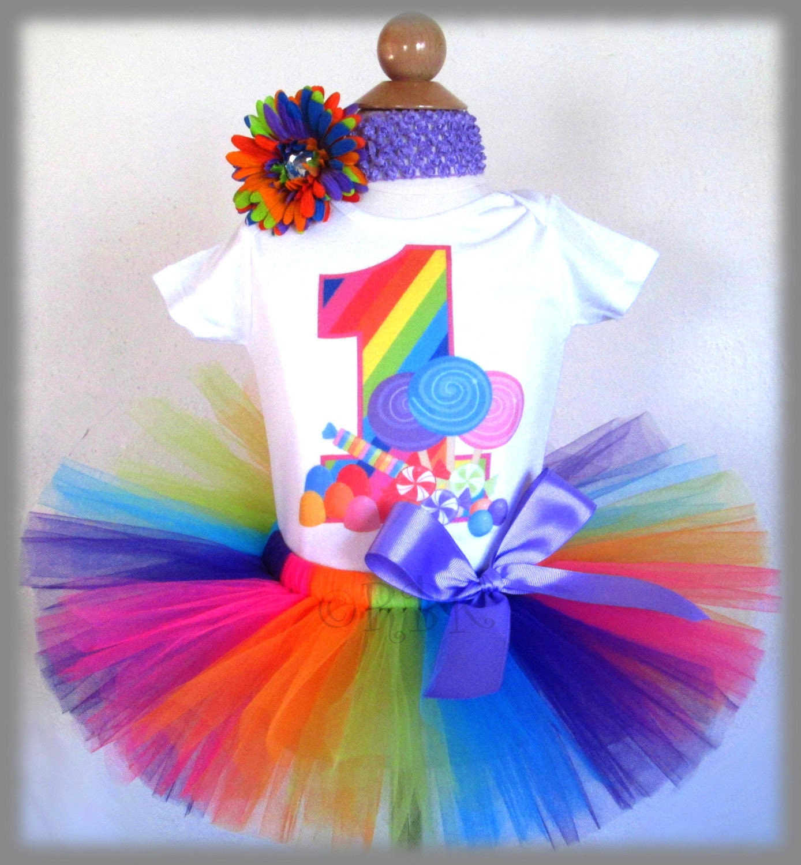Rainbow 1st Birthday Outfit 1st Birthday By BabyBirthdayTee
