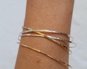 Gold Bangle, Rose Gold Bangle, Hammered Bangle, Rose Gold Bangles, Silver Bangles, Hammered Bangles, Adjustable Bangles, Adjustable Bracelet