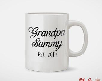 Grandpa Custom Name Established Custom Coffee Mug