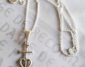 Necklace - Camargue Cross - Sterling Silver - 14x26mm + 18 inch chain