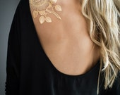 Gold Rose Metallic Temporary Tattoo by Myra Oh