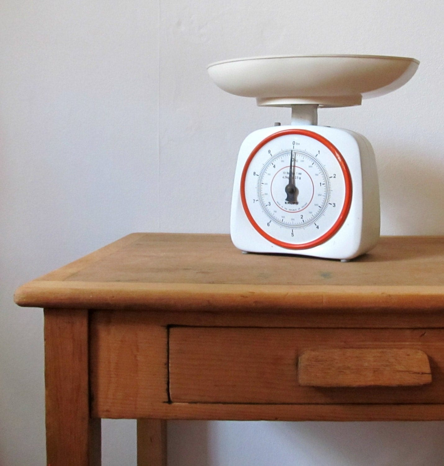 Vintage White And Red Krups Kitchen Scales By GoodsGarb On