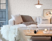 Self adhesive wallpaper - Removable wall decal - Cheetah pattern wallpaper - 072 WHITE/ CHAMPAGNE